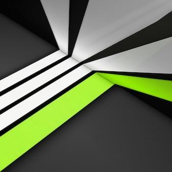 Biało-zielone proste paski na szarym tle