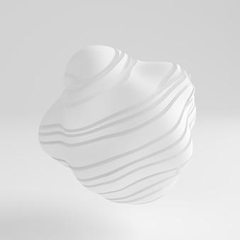 Biały abstrakcyjny kształt