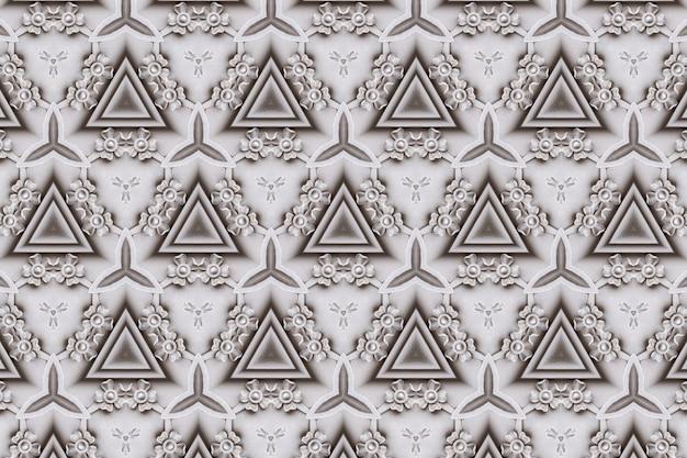 Biały abstrakcyjny wzór tła teksturowane, linie i symetryczne kształty