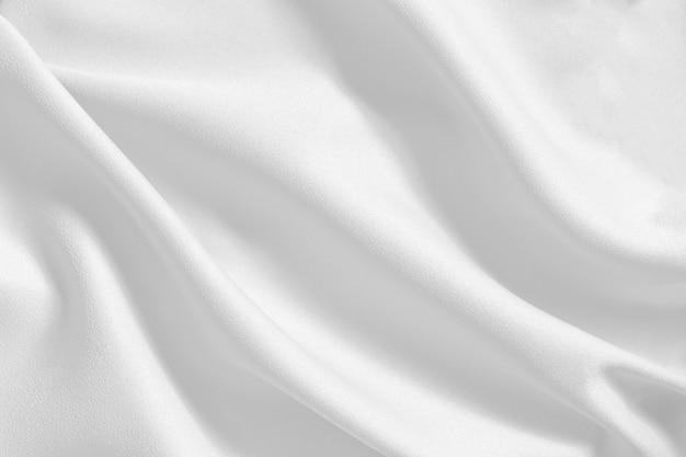 Biały bawełniany wzór z naturalnej tkaniny