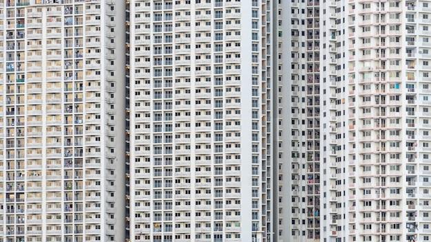 Biały budynek wierza miastowy tekstury tło, bangkok tajlandia