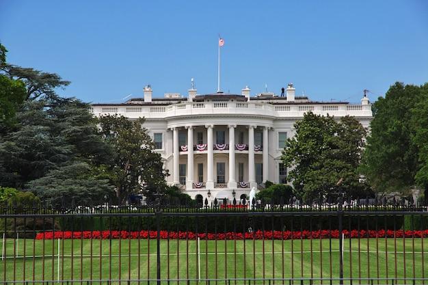Biały dom w waszyngtonie, stany zjednoczone