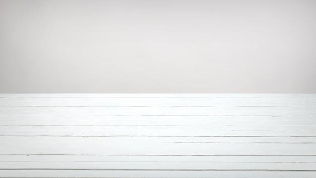 Biały drewniany stół