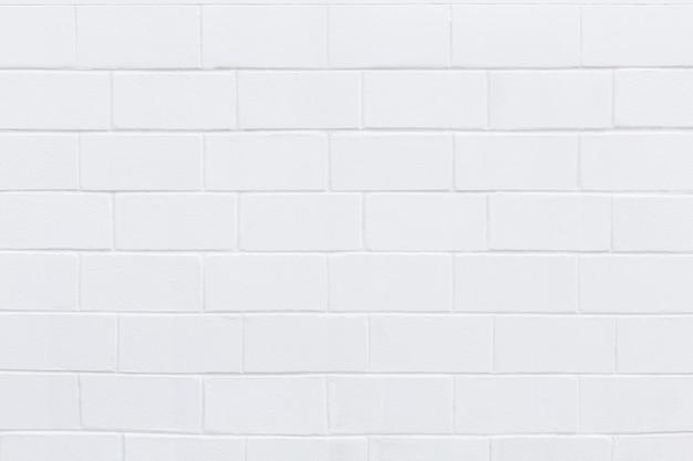 Biały duży mur z cegły