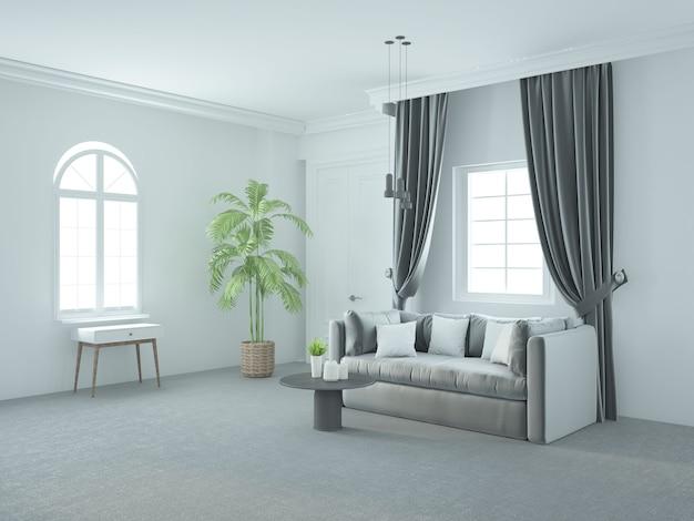 Biały elegancki luksusowy salon