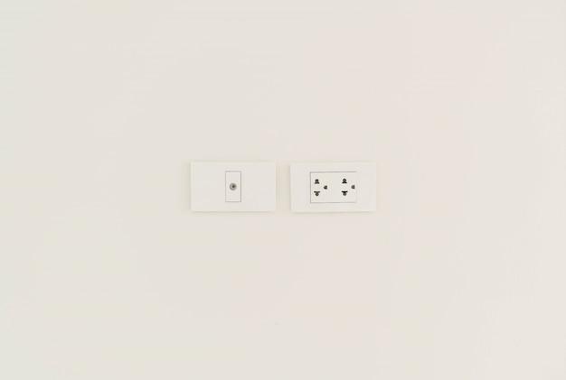 Biały gniazdo elektryczne