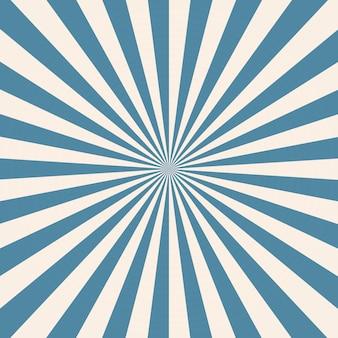 Biały i niebieski wzór tła sunburst