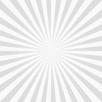 Biały i szary tło wzór sunburst