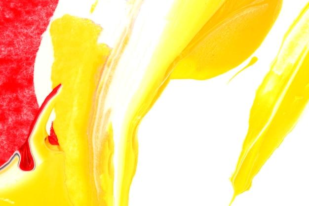 Biały i żółty akrylowy farby tekstury tło