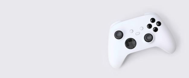 Biały kontroler gier nowej generacji na białym tle