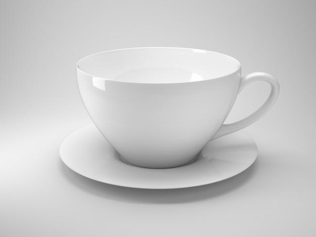 Biały kubek kawy
