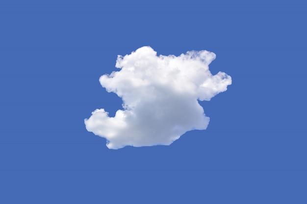 Biały mógł na niebieskim niebie