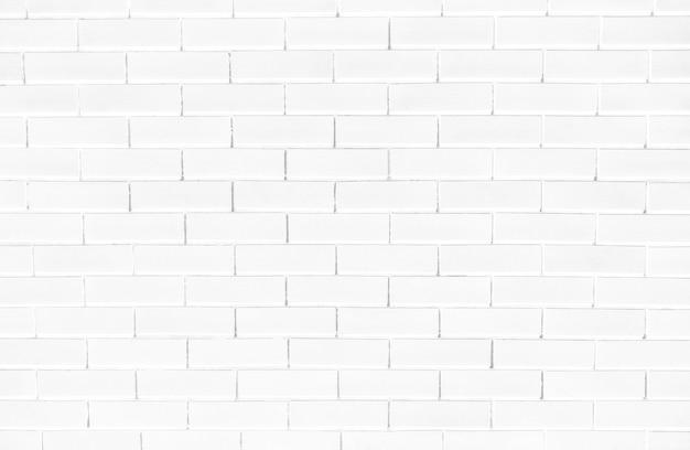 Biały mur z cegły teksturowane tło