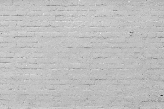 Biały mur z cegły. wnętrze nowoczesnego loftu. tło dla projektu