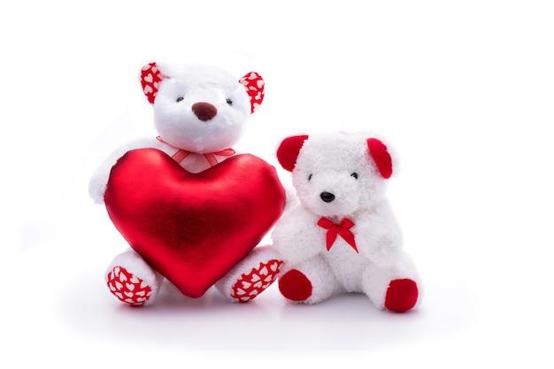 Biały niedźwiedź z sercem