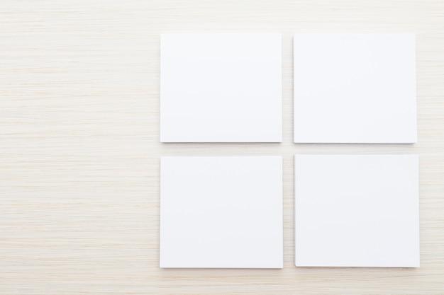 Biały papier makiety