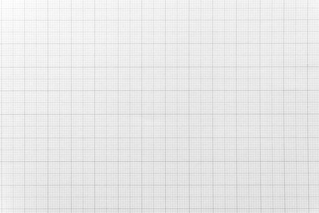Biały papier z wzorem linii siatki na tle. zbliżenie.