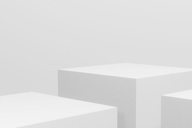 Biały podium w abstrakcjonistycznym składzie, 3d odpłaca się.