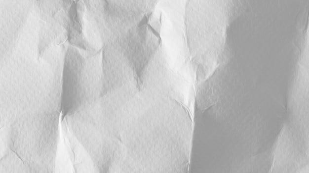 Biały pomarszczony papier tekstura tło