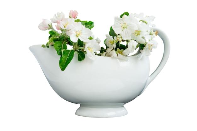 Biały porcelanowy dzbanek na mleko