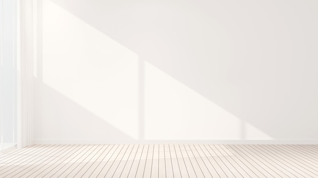 Biały pusty pokój projektowy do wynajęcia lub inny pokój
