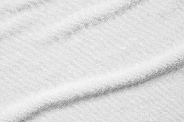 Biały ręcznik bawełniany tekstura tło