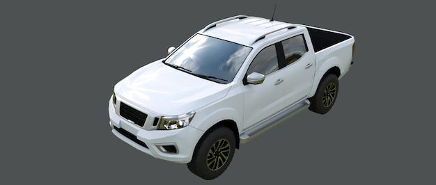 Biały samochód dostawczy z podwójną kabiną