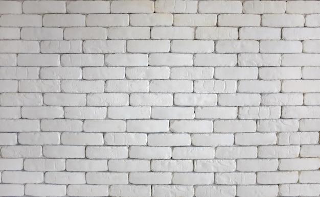 Biały ściana z cegieł dla tekstury tła.