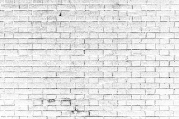 Biały ściana z cegieł tekstury tło
