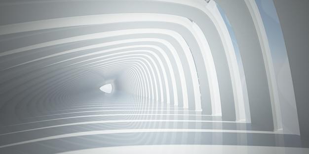 Biały skośny tunel
