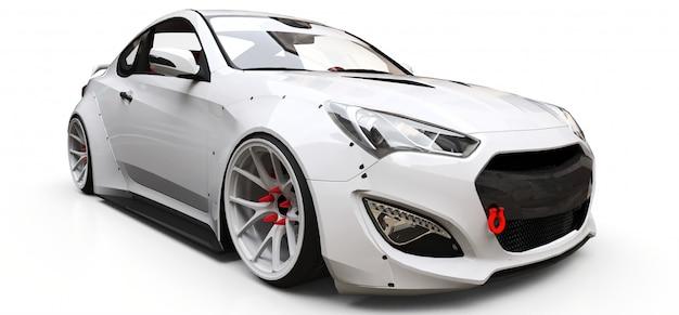 Biały sportowy samochód coupe