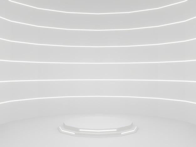 Biały stojak na produkt scifi makieta naukowa podium