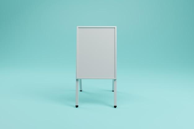Biały stojak reklamowy