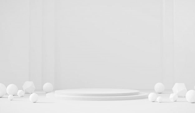 Biały szablon faza produktu obecne tło