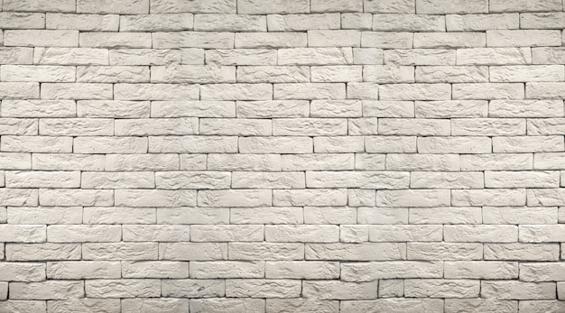 Biały szary grunge ceglany mur tło