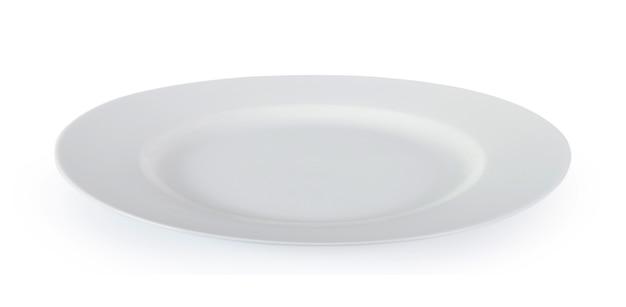 Biały talerz na białej ścianie