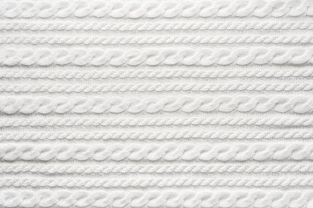 Biały wełna sweter tekstura tło