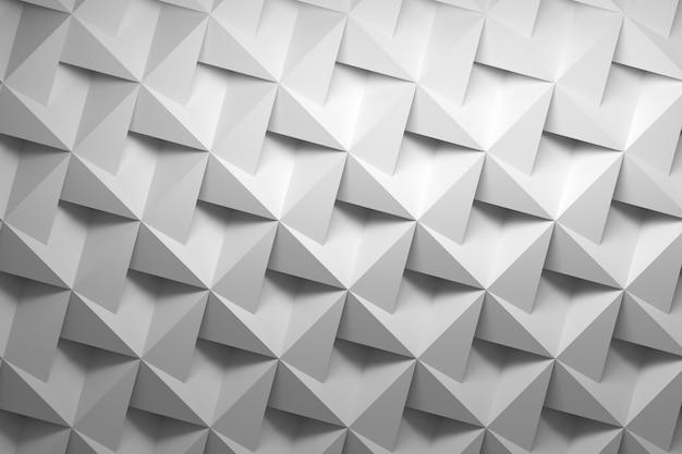 Biały wzór low poly z głębokimi kwadratowymi cieniowanymi kafelkami w szarym białym kolorze