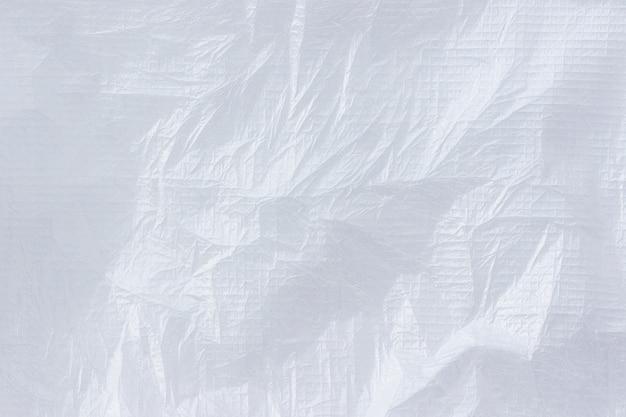 Biały zmięty materiał włókninowy
