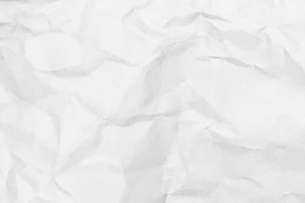 Biały zmięty papier tekstura tło projekt przestrzeni biały odcień