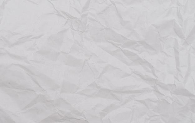 Biały Zmięty Papier Tekstury Premium Zdjęcia