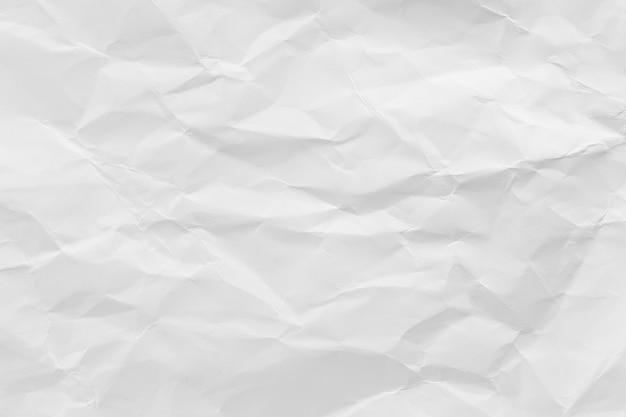 Biały zmięty papier z recyklingu tekstury tło