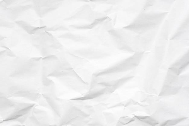 Biały zmięty papierowy tekstury tło.