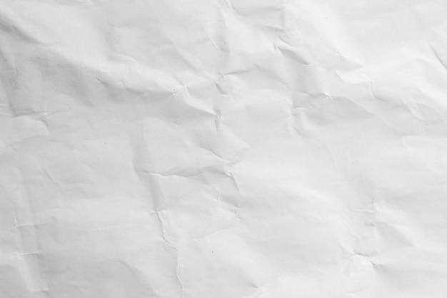 Biały zmięty recykling papieru tekstury tła