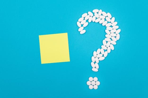 Biały znak zapytania przemysł farmaceutyczny i produkty lecznicze