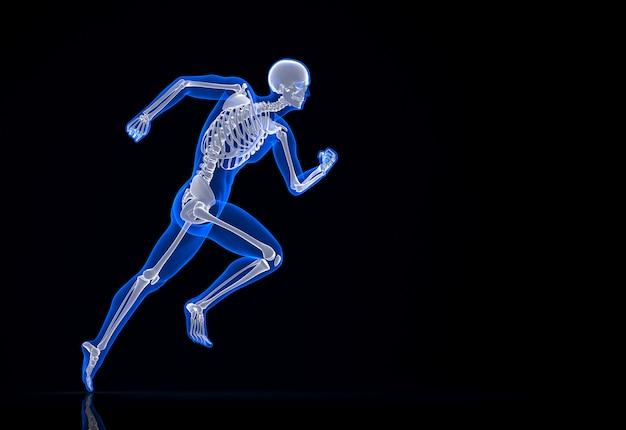 Biegnący szkielet. zawiera ścieżkę przycinającą.