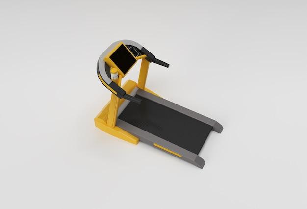 Bieżnia renderowania 3d lub maszyna do biegania na białym tle