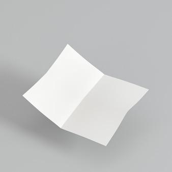 Bifold broszura kopia przestrzeń wysoki widok