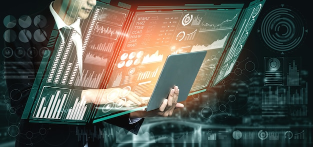 Big data technology for business finance analytic concept