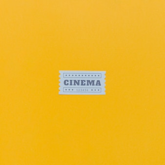 Bilety do kina w stylu vintage